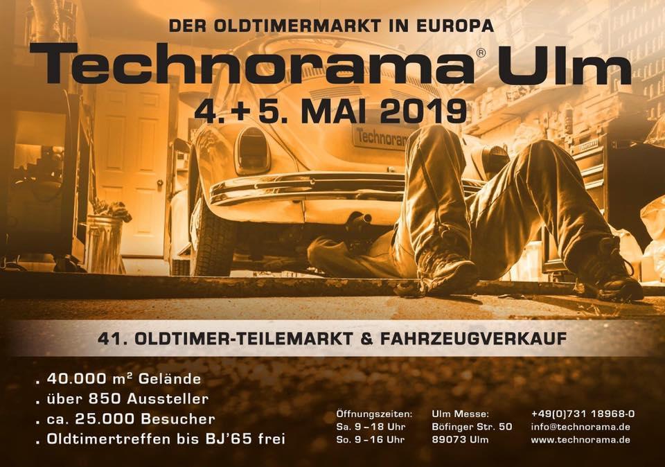 Technorama Ulm - 41. Teilemarkt + Fahrzeugverkauf @ Ulm Messe